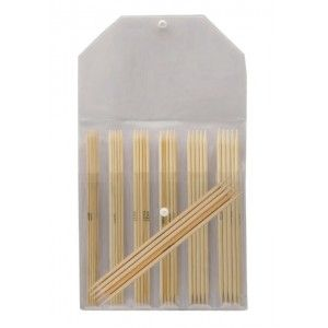 Double Pointed Needle Set Bamboo 15 cm