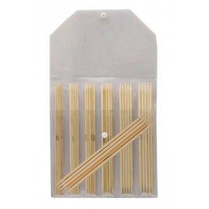 Double Pointed Needle Set Bamboo 15 cm