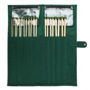 Set Agujas Rectas 33 cm Knit Pro Bamboo