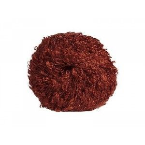 Mohair-yarn Bouclé - reddish brown