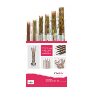 Set KnitPro Symfonie Wood Dobles Puntas 20 cm