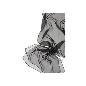 Fular de seda para Nuno de 180x55 negro