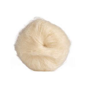 Mohair para Pelo de Muñeca - blanco liso